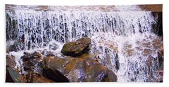 Beach Towel featuring the photograph Water Cascade by Roberta Byram