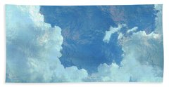 Beach Towel featuring the photograph Water Clouds by Robin Regan