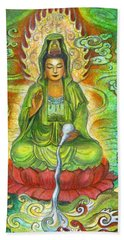 Water Dragon Kuan Yin Beach Towel