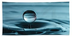 Water Drop With Milk Beach Sheet
