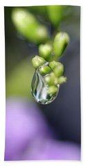 Water Droplet Iv Beach Sheet by Richard Rizzo