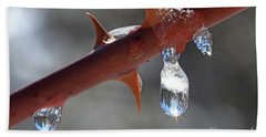 Water Droplets Beach Towel