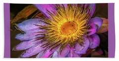 Water Flower Beach Towel