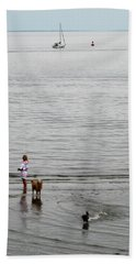 Water Fun Beach Towel by John Scates