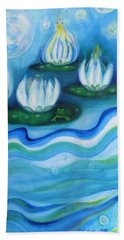 Beach Towel featuring the painting Water Garden by Denise Fulmer