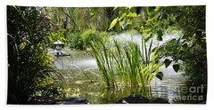 Beach Towel featuring the photograph Water Garden by Rebecca Davis