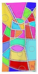Water Glass Of Light And Color Beach Towel by Jeremy Aiyadurai