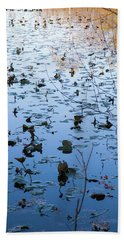 Water Lilies Autumn Song Beach Towel