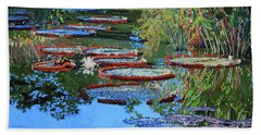 Water Lilies For Amelia Beach Towel