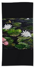 Water Lilies I Beach Towel by Marilyn Zalatan