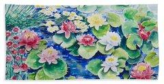 Water Lilies Beach Sheet