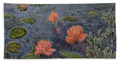 Water Lilies Lounge Beach Towel