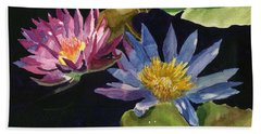 Water Lilies Beach Towel by Lynne Reichhart