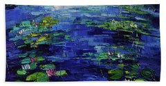 Water Lilies Magic Beach Towel