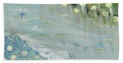 Water Lilies Beach Towel by Michal Mitak Mahgerefteh