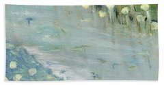 Beach Sheet featuring the painting Water Lilies by Michal Mitak Mahgerefteh