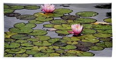 Water Lilies Beach Towel by Shirley Mitchell
