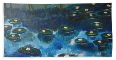 Water Lillies Beach Sheet
