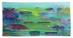 Water Lillies Beach Sheet