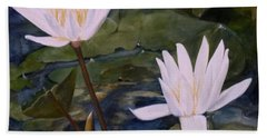 Water Lily At Longwood Gardens Beach Sheet by Laurie Rohner