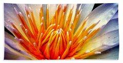 Water Lily Flower Beach Towel