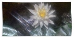 Water Lily In Sunlight Beach Sheet