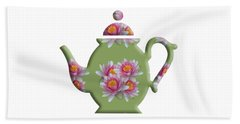 Water Lily Pattern Teapot Beach Sheet