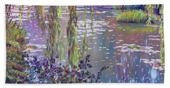 Water Lily Pond Giverny Beach Sheet