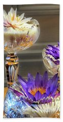 Water-lilys On Table  Beach Towel