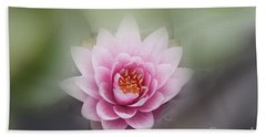 Water Lotus Flower Beach Sheet