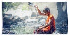 Water Meditation Beach Sheet by Kai Saarto