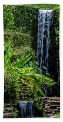 Beach Towel featuring the photograph Water Over The Rocks by Ken Frischkorn