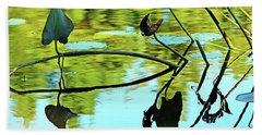 Water Plants Beach Sheet by Debbie Oppermann