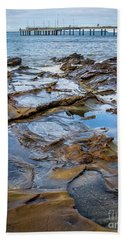 Beach Towel featuring the photograph Water Pool by Perry Webster