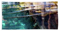 Beach Towel featuring the photograph Water Reflections by Francesca Mackenney