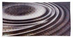Beach Sheet featuring the digital art Water Ripple On Rusty Steel Plate  by Michal Boubin