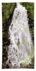 Water Roaring Down Cascade Falls, Farmington, Maine  -30377 Beach Towel