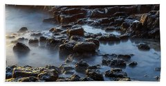 Water, Rocks And Sunlight Beach Towel