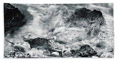 Water Rocks Beach Towel