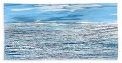 Water Scribbles Beach Towel