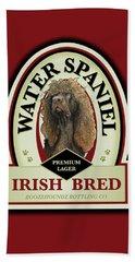 Water Spaniel Irish Bred Premium Lager Beach Towel