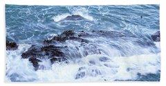 Water Turmoil Beach Towel
