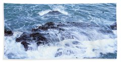 Water Turmoil Beach Towel