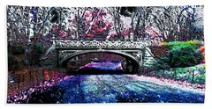 Beach Towel featuring the photograph Water Under The Bridge by Iowan Stone-Flowers