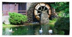 Water Wheel Duck Pond Beach Towel
