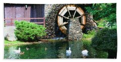 Water Wheel Duck Pond Beach Towel