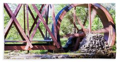 Water Wheel Beach Towel