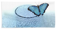 Water With Butterfly Beach Towel
