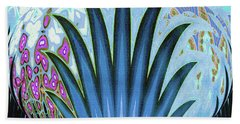 Water World Botanical Beach Towel by Ann Johndro-Collins