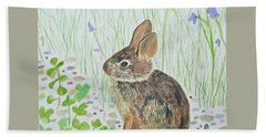 Watercolor - Baby Bunny Beach Sheet